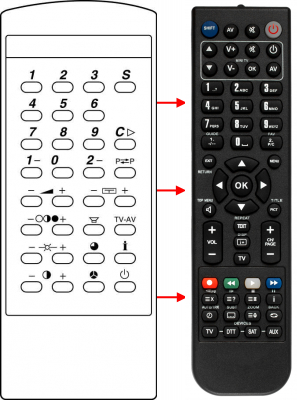 Erstatnings-fjernbetjening til  Hisense 201149