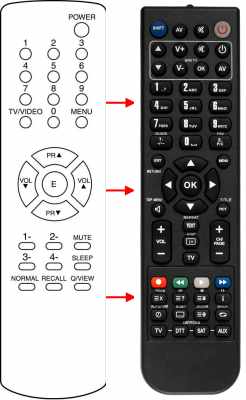 Replacement remote control for Audiosonic 48B2128A01