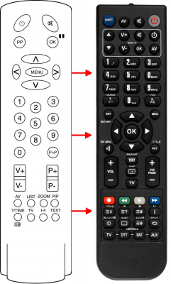 Replacement remote control for Aiwa 2100