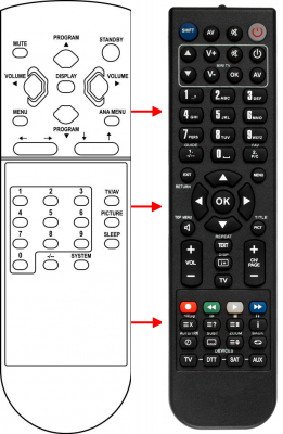 Replacement remote control for Haier 2180