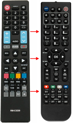 Replacement remote control for Hkc 13M4C