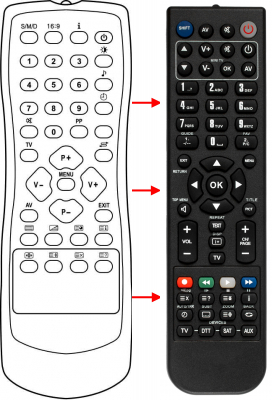 Replacement remote control for Ft LOR119PT90