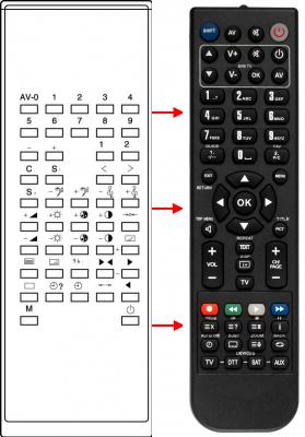 Erstatnings-fjernbetjening til  LG 105-057E