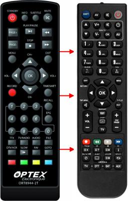 Erstatnings-fjernbetjening til  Mpman DVB-T3500