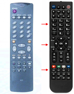 Replacement remote control for Samsung 00006A