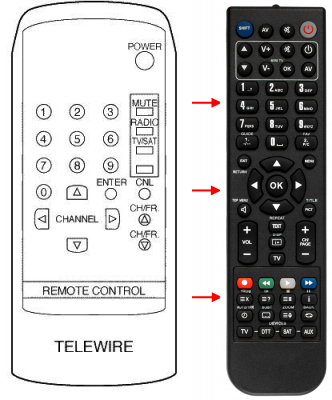 Replacement remote control for FTE Maximal ESR4000