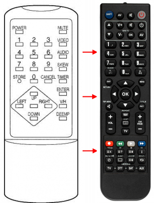 Replacement remote control for FTE Maximal ESR4200