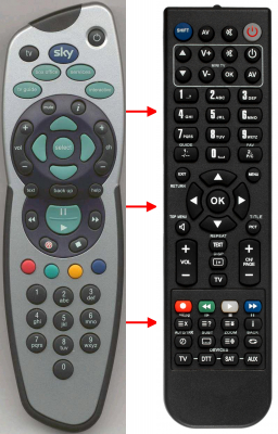 Replacement remote control for Access Media L1