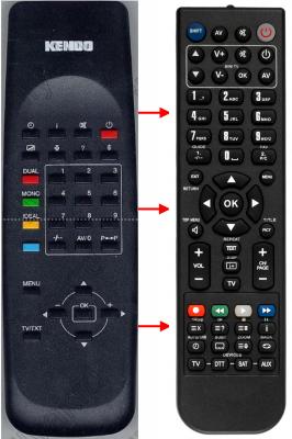 Erstatnings-fjernbetjening til  Sagem 1440NT