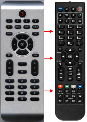Replacement remote control for Thomson RC182