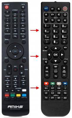 Erstatnings-fjernbetjening til  Galaxy Innovations GI MATRIX LITE