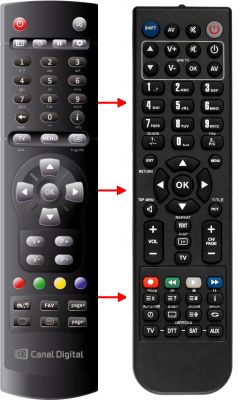 Replacement remote control for Canal Digital CDC-9000S HD