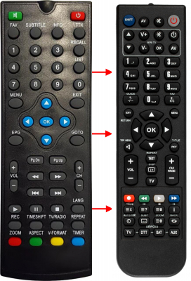 Replacement remote control for Cobra CIGNO HD DTT+SAT