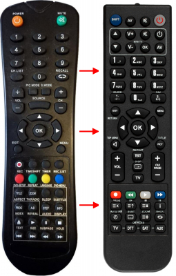 Replacement remote control for Asano 16DF2002