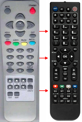 Replacement remote control for Gold Vision FTA SURPRISE