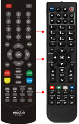 Replacement remote control for Hiremco X1
