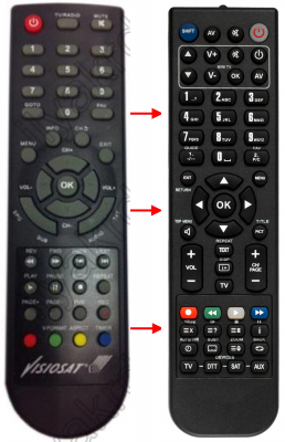 Replacement remote control for 4ife SV400