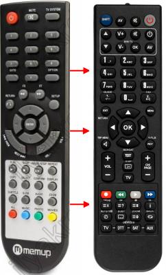 Erstatnings-fjernbetjening til  Freecom MEDIA PLAYER II