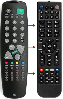 Erstatnings-fjernbetjening til  Medion 1007093050