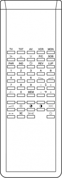 Replacement remote control for Bruns COLOR VISION RC9140
