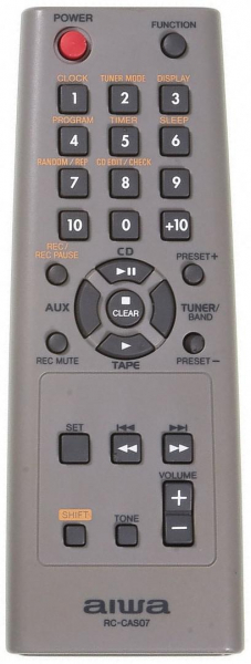 Replacement remote control for Aiwa XR-EM20