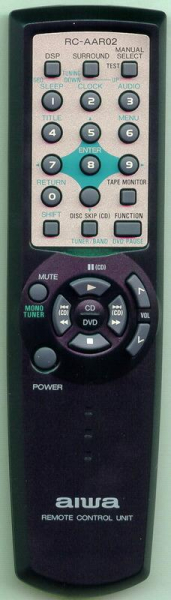 Replacement remote control for Aiwa RC-AAR02