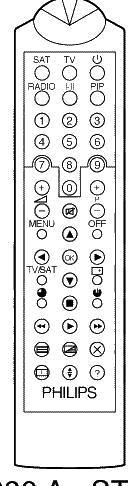 代わりのリモートコントロール Bsb SATELLITE