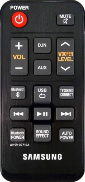 Replacement remote control for Samsung HWJ250