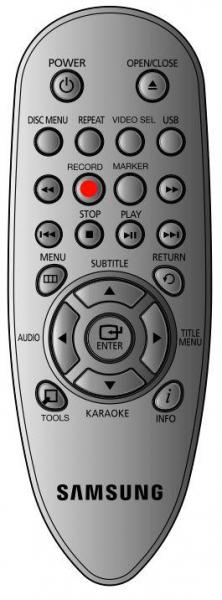 SAMSUNG DVD-E360 Vervanging afstandsbediening