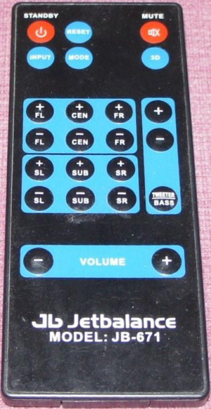 Replacement remote control for Jetbalance JB-671 4B1