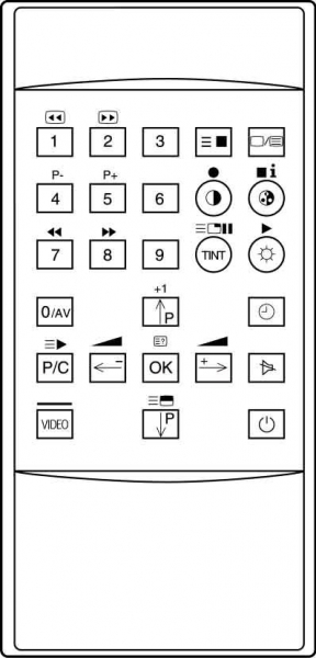 CLASSIC IRC81004 Erstatningsfjernkontroll
