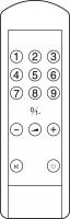 CLASSIC IRC81203 Erstatningsfjernkontroll