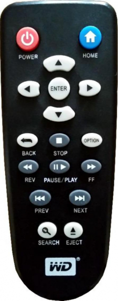 Replacement remote control for Western Digital WD TV LIVE