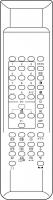CLASSIC IRC81106 Erstatningsfjernkontroll