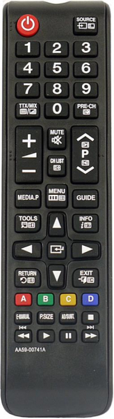 Replacement remote control for Samsung UE40NU7190