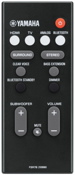 Replacement remote control for Yamaha FSR78