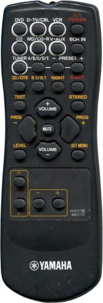 Replacement remote control for Yamaha RAV16-WA61770