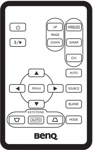 Controlo remoto de substituição para BenQ CP120C
