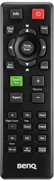 Controlo remoto de substituição para BenQ MS504