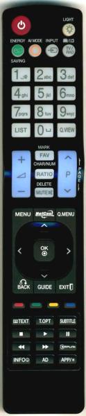 LG 47LM615S Substituição controlo remoto