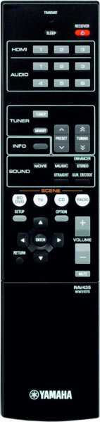 Replacement remote control for Yamaha RAV435