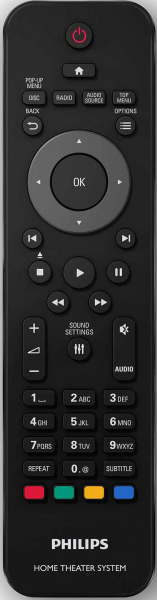 Replacement remote control for Philips HTS3541