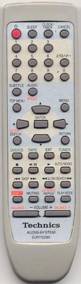 Replacement remote control for Technics SE-HDV600