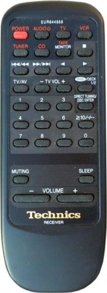 Replacement remote control for Technics SA-DX940