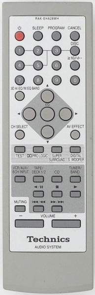 Replacement remote control for Technics SH-EH750