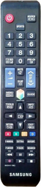 Replacement remote control for Samsung BN59-01198Q