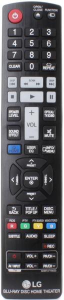 LG HB965TXW BLU-RAY Fjärrkontroll för utbyte