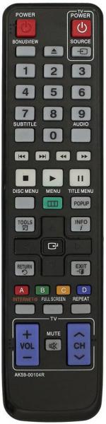 SAMSUNG BD-P1500 รีโมทคอนโทรลสำหรับใช้ทดแทน