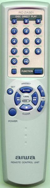 รีโมทคอนโทรลสำหรับใช้ทดแทน Aiwa RC-ZAS01