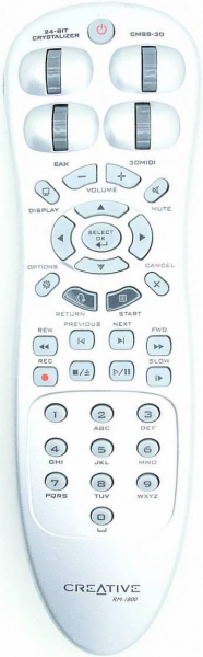 Replacement remote control for Creative RM-1800